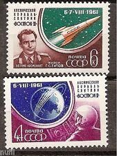 Rusia Russia URSS CCCP yv # 2452/2453 ** MNH Set Titov Vostok Space
