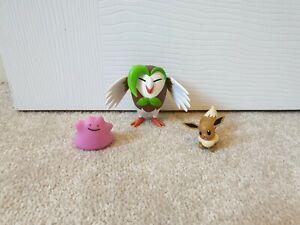 Pokemon Dartrix, Eevee and Ditto Battle Figure Set