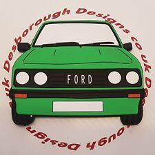 Ford MK2 Escort Rs 2000 Large Fridge Tool Box Magnet Coaster Signal Green