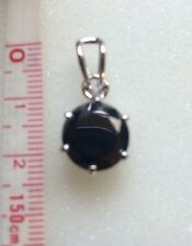 Huge 4.30CT CT BLACK  MOISSINITE WITH ACCENT STERLNG SILVER PENDANT graded $ 398