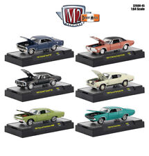DETROIT MUSCLE, 6 CARS SET RELEASE 45 IN CASES 1/64 DIECAST M2 MACHINES 32600-45