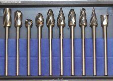 """Mastercarver 10 piece Carbide Burr set 1/8"""" Shank 1/4"""" Head  (MC-BRS-627001)"""