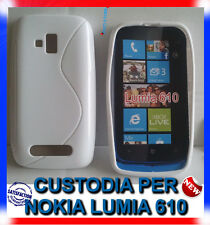 Pellicola + Custodia cover case WAVE BIANCA per NOKIA LUMIA 610