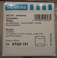 *NEU* 5 x Siemens DELTA Ambiente Wippe 5TG6 131 Königsblau 5TG6131 Rocker