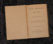DAILY THOUGHTS For a Child MRS THOMAS GELDART 1859 HC Book