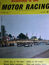 BRM FEATURE BOURNE 1962 US UNITED STATES GP WATKINS GLEN JIM CLARK LOTUS 25