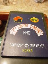 U.S. Army 19th Support Command 1981 Yearbook Camp Heny & Camp Walker Daegu Korea