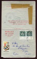 NZ esercito in Vietnam 1970 AIR lettera... Xmas etichetta + CANCEL