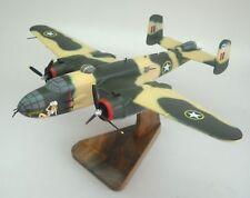 TB-25-N Mitchell Yellow Rose Airplane Desktop Wood Model Big New