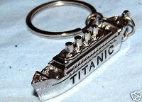 RMS TITANIC Key Ring Fob Distaster Silver Boat Mini Miniature Small Chain Vessel
