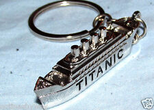 RMS TITANIC Key Ring Fob Distaster Silver Boat Mini Miniature Small Chain Vessel