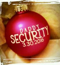 Expecting Baby New DADDY CHRISTMAS ORNAMENT Personalized Glass Ball ANY NAME