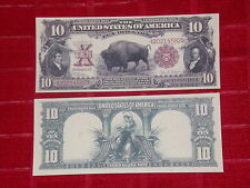 "NICE LOOKING CRISP UNC. 1901 $10 ""BISON"" RED SEAL COPY"