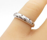 925 Sterling Silver - Multi-Gemstone Dotted Shiny Dome Band Ring Sz 7- R15230