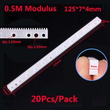 20Pcs Plastic Gear Rack 0.5 Modulus 125mmx7mmx4mm Gear Robot Parts White For DIY