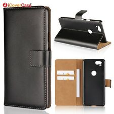 Genuine Leather Wallet Flip Stand Case Cover For Google Pixel 2