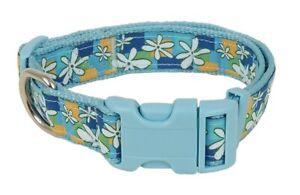 Douglas Paquette MOSAIC FLORAL Nylon/Ribbon Adjustable Dog Collar, Harness