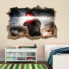 Soldado Ejército Militar Guerra láser 3D Pared Adhesivo Mural Calcomanía Cuarto de Niños Chicos CP70