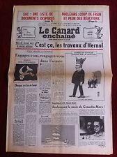 Le Canard Enchainé 5/8/1981;SAC; une liste de documents disparus. Prix Gauloise
