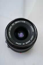 Vintage Canon FD 28mm F/2.8 Wide Angle Lens Manual Focus for 35mm Film Cameras