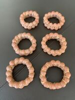 Set Of 6 Brown Rustic Napkin Rings