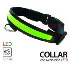 Collar LUZ LED para Perros LUMINOSO con iluminación noctura VARIAS VELOCIDADES