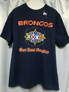 Vintage 1998 Denver Broncos Super Bowl XXXII Champs T-Shirt San Diego Men's L