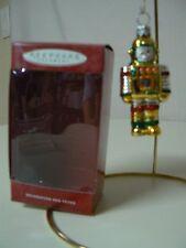 Hallmark Ornament 2000 LI'L ROBOT Hand Blown Glass NEW Gold Red White Green