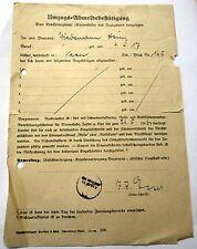 Umzugs Abmeldebestätigung vom 26.5.1946 von Veen nach Borna/Sachsen mit Siegel