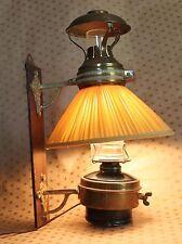 "Antique Victorian Brass Lamp - Lantern 15.1/2""Tall - Hanging Electrified"