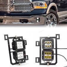 For Dodge 2013-2017 Ram 1500 Lower Bumper Dual 24W LED Fog Light Pod Bracket Kit