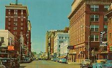 Eighth Street Looking West in Wichita Falls TX Postcard