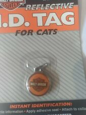 Harley Davidson I.D. Reflective Tag For Cats Waterproof Nickel Plated Pets