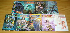 Gear Station #1-5 VF/NM complete series + (4) variants  michael turner/alex ross