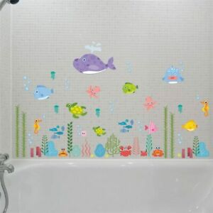 Underwater Seabed Fish Bubble Starfish Star Wall Sticker Kids Room Wall Decals