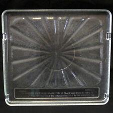 Vintage Amana Radarange Starburst Square Glass Tray 15 1/8 x 13 11/16 Microwave