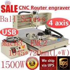 1500W 4Axis 6090 USB VFD CNC Router Engraver Engraving Mill Drill Ballscrew Tool