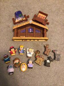Mattel Fisher Price 2002 Little People Nativity Set Christmas Vintage