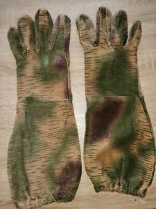 Wehrmacht sumpftarn Scharfschützen Handschuhe gest. 1944 ORIGINAL STOFF