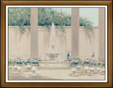 Andre Gisson Large Original Oil Painting On Canvas Signed Floral Cityscape Art