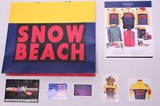 Polo Ralph Lauren Snow Beach Yellow Blue Red Green Shopping Bag Flyer 4 Stickers