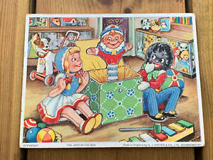 """Vintage G J HAYTER 1970'S """"The Jack In The Box"""" 10 Piece Wooden Puzzle"""