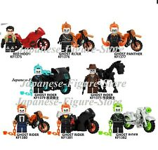 SET 8 SPECIAL GHOST RIDER GHOST PANTHER RED HOOD Marvel DC Minifigure lego MOC