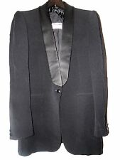 "MARTIN MARGIELA VINTAGE BLAZER 1990'S shawl collar single button wool gab 40"" ch"