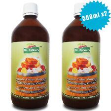Dr Patkars Apple Cider Vinegar with Garlic Ginger Lemon and Honey 500ml X2