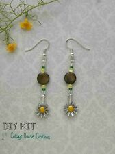 Sunflower Dangle Earring Bead Kit Jewelry Making Beads