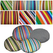 Flat Round Shape Cover*Stripe Cotton Canvas Floor Seat Chair Cushion Case*AK2