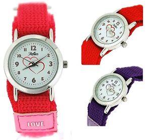 Hearts Watch Reflex Girls Childrens Easy Fasten Strap Love Xmas Gift For Kids