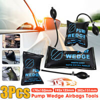 3Pcs Car Air Pump Wedge Inflatable Shim Pad Cushioned Powerful Opener Han J