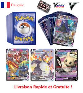 Lot Aux Choix 300 Cartes POKEMON Françaises Rares Brillantes GX EX V VMAX MEGA